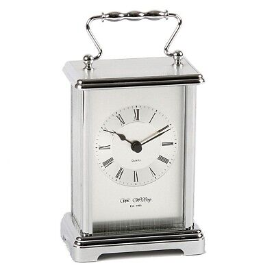 Wm Widdop Top Quality Heavy Silver Carriage Clock W4312 New Ideal Gift
