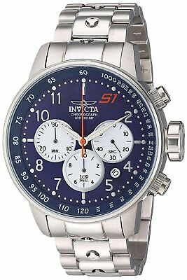 Invicta Mens S1 Rally Quartz Stainless Steel Casual Watch, Color:Silver-Toned