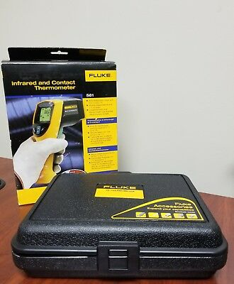 Fluke Infrared And Contact Thermometer In Original Box (561) c-x
