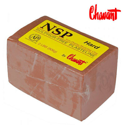Chavant NSP Clay HARD 2lbs/906g Sulfur-Free Plasteline Non-Drying Modeling Clay