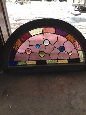 Sg 1844 Antique Victorian Arch Top Window Jules 19 H X 33