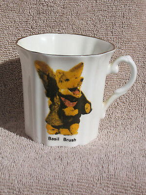 BASIL BRUSH 1970 Royal Grafton Bone China Cup BBC TV Made in England Ha Ha Boom