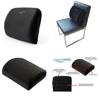 Lower Back Support Pillow Lumbar Cushion Chair Memory Foam Pain Relief Car Seat