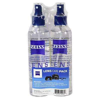 Zeiss Lens Care Pack - Two 8 oz Bottles of Lens Cleaner, One Microfiber Cloth