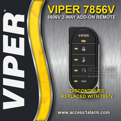 Viper 7856V 2-Way LED Remote Control For Viper 5606V Upgraded to New 7857V