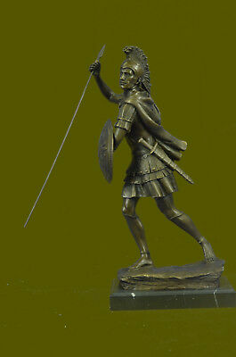 USA Ornaments of ancient Roman soldier statue bronze sculpture warrior Spear Art
