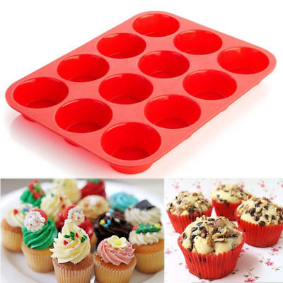 lot of 2 pack, each 12 Cup Silicone Muffin Cupcake Pan brand new