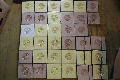 Lot Of 35 Antique Door/window Wood Rosette Plinth Block Architectural Salvage
