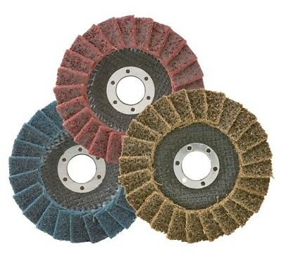 """3 Pack - 4-1/2"""" x 7/8"""" Black Hawk Surface Conditioning Flap Discs Variety Pack"""