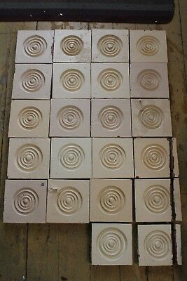 Lot Of 22 Antique Door/window Wood Rosette Plinth Block Architectural Salvage
