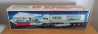 1992 HESS Toy 18 Wheeler with Racer in Original Unopened Box ~ FREE SHIPPING!