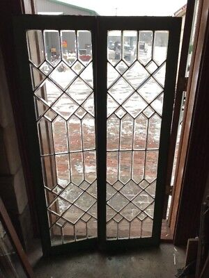 Sg 1861 2 Available Price Each Beveled Glass Transom Window 18.25 X 6 1.25
