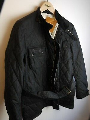 Barbour International Men's Quilted International Jacket, NWT, Black, Large