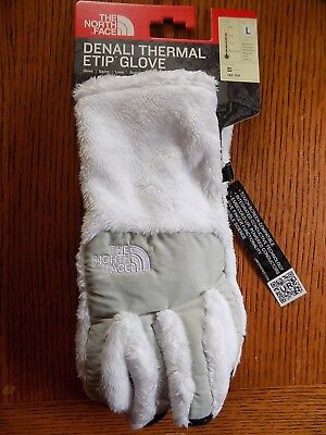 Nwt Women's The North Face Denali Thermal Etip Gloves Tnf White  Size Large