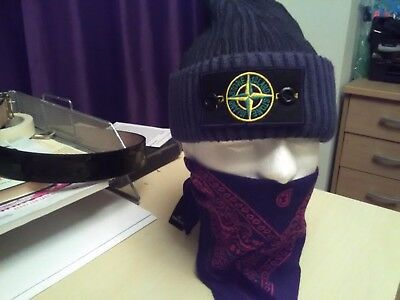unisex stone island beanie hat (smoked/grey)winter clearance sale 80% off