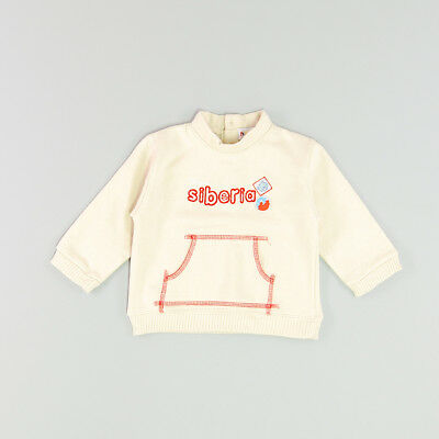 Sudadera color Beige marca Pick Ouic 12 Meses