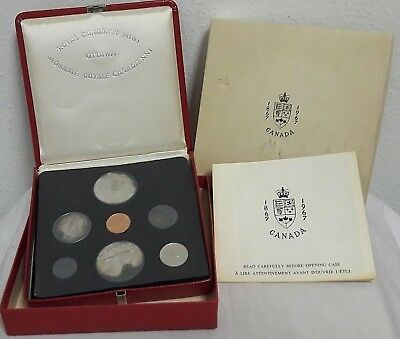 1967 CANADA Royal Canadian Mint OTTAWA PROOFLIKE SET Toned in Red Case w/ Box