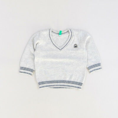 Jersey color Gris marca Benetton 12 Meses