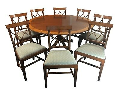 William Tillman Circular Dining Table + 8 Chairs - Regency Style - Free Delivery
