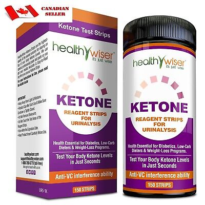 150 Ketone Urine Test Strips For Urinalysis Diabetes Weight Loss Paleo Diets