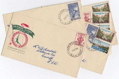 Australia 1956 'Melbourne Olympics' First Day Stamp Covers & Card, used (5 item)