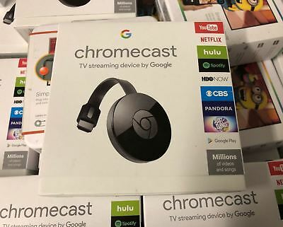 Brand New Google Chromecast Digital HD Media Streamer 2nd Generation Black