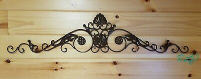 Decorative Vintage Victorian Scrolling Wrought Iron  Wall Grille Art Sculpture