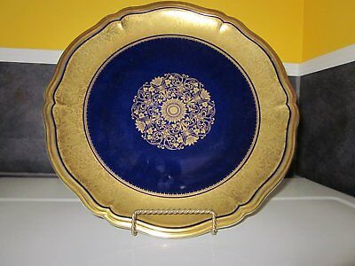 Rare Antique Rosenthal Chippendale China Etched In Gold 13 Centerpiece Plate
