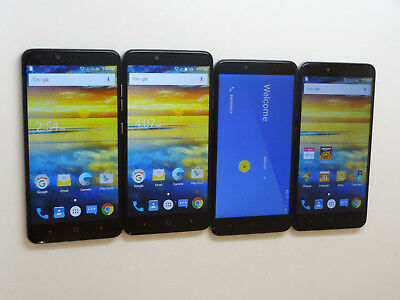 Lot of 4 ZTE ZMax Pro Z981 32GB T-Mobile Smartphones AS-IS GSM ^