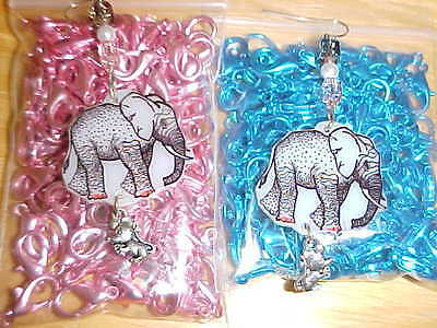 ELEPHANT Pierced Earrings #6 - Unique Animal Jewelry - W/ MOUSE CHARM PACHYDERMS