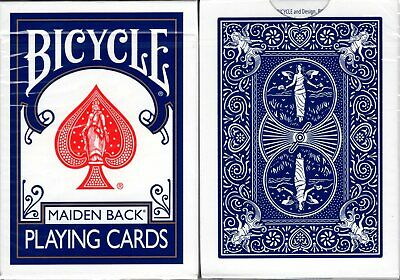 Marked Maiden Back Blue Bicycle Trick Playing Cards Poker Size Deck USPCC Sealed
