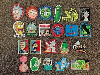 Rick & Morty (21+) Hard Hat Stickers Get Schwifty Plumbus Pikle Riggity Wrecked