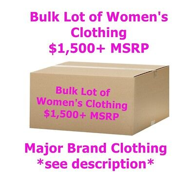 $1,500+ Wholesale Lot of Women's Clothing - Major Designer Brand Names