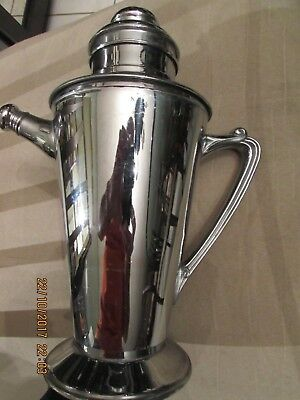 Vintage Silverplate Martini COCKTAIL SHAKER Pitcher MID-CENTURY