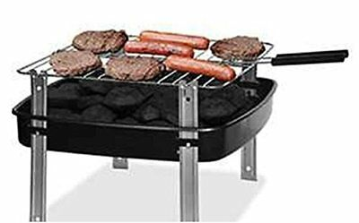 Backyard Grill 12 inch Portable Charcoal Grill with Charcoal & Basting Brush - BACKYARD GRILL 12 Inch Portable Charcoal Grill With Charcoal