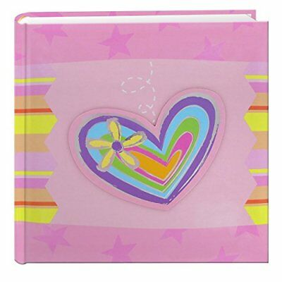 200 Pocket 3 D Striped Heart Applique Cover Album 4 by 6 Inch
