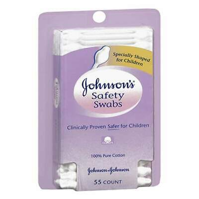 Johnson's Safety Swabs For Babies And Children, 55 ea