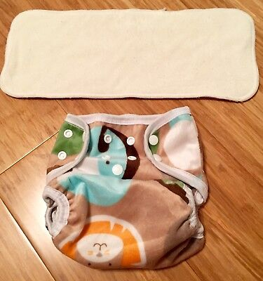 Bububibi Safari Cloth Diaper With Insert One Size Fit Most NWOT