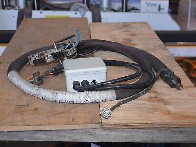 Robatech Hot Glue system heated hose W08T200 100786 + HEAD 105826 AX101NF USED