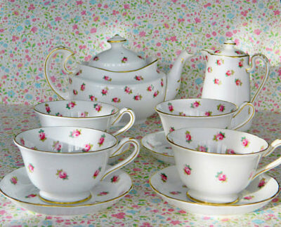 Rare Grosvenor China  TEA SET- Ye Olde English - Downton Abbey style!