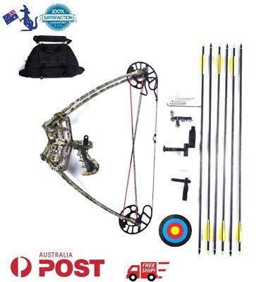 Left right Handed 45LBS 6 arrows Magnesium Alloy Triangle Bow Archery Set