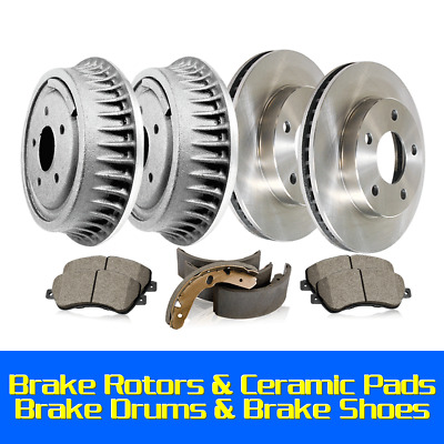 Ceramic Pads /& Rear Drums Front Brake Rotors Shoes For 1993-1996 Century