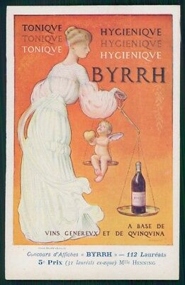 Artist Signed Byrrh Advertising Henning Art Nouveau postcard TC3171