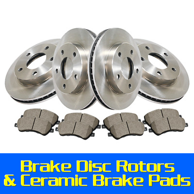 Centric Front+Rear Brake Disc Rotors & Ceramic Pads 6PCS Fits Cadillac SRX 2011