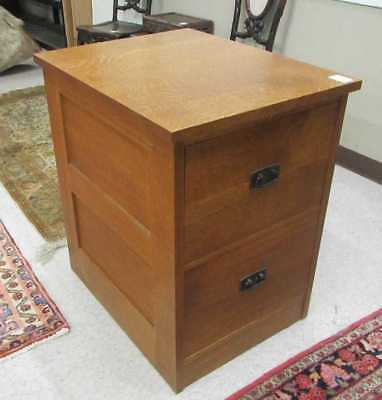STICKLEY TWO-DRAWER OAK FILE CABINET, L. & J.G. St Lot 42