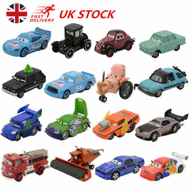 Disney Pixar Cars 1-3 Diecast Mcqueen Frank Tractor King Chick Hick Kids Car Toy