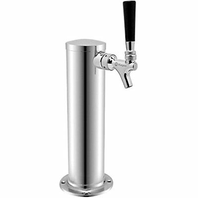 """KC D4743T-SS Polished Single Faucet Draft Beer Tower, 3"""" Column, Stainless Steel"""