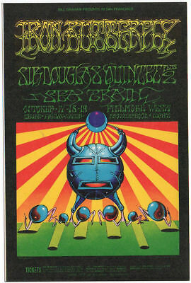 Mint IRON BUTTERFLY Fillmore Postcard Poster
