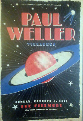 Mint PAUL WELLER Fillmore Poster 2015 The Jam Style Council