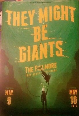 Mint THEY MIGHT BE GIANTS TMBG Fillmore Poster 15